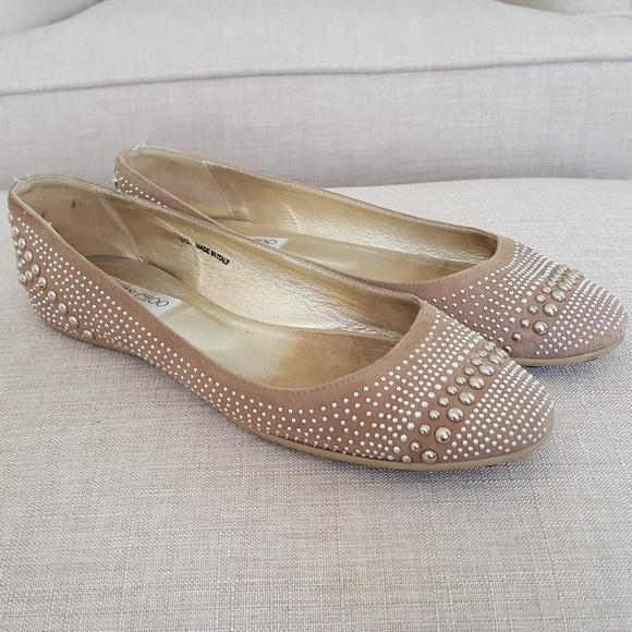 020495dee787 Jimmy Choo Shoes - Jimmy Choo Welda Studded Ballerina Flat 39 9